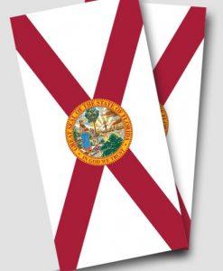 Florida Flag Cornhole Wrap