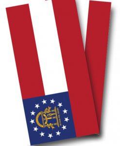 Georgia Flag Cornhole Wrap