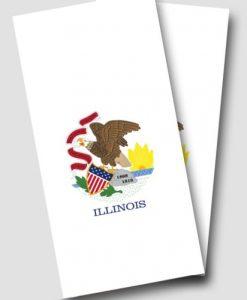 Illinois Flag Cornhole Wrap
