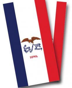 Iowa Flag Cornhole Wrap