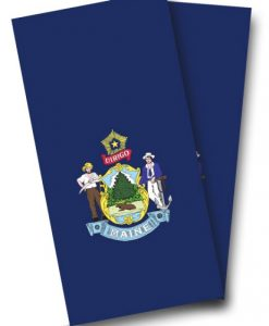 Maine Flag Cornhole Wrap
