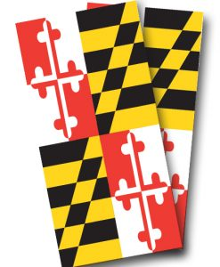 Maryland Flag Cornhole Wrap
