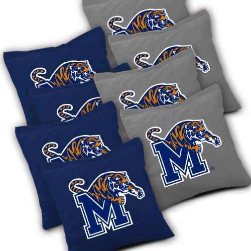 Memphis Tigers Cornhole Bags Set of 8