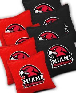 Miami Redhawks Cornhole Bags Set of 8