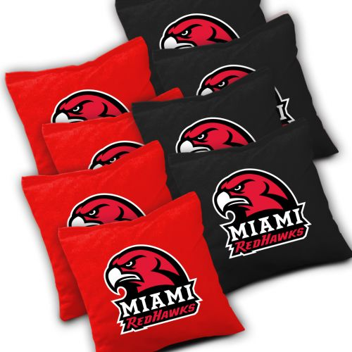 Miami Redhawks Cornhole Bags Set of 8