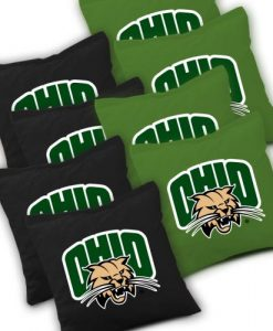 Ohio Bobcats Cornhole Bags Set of 8