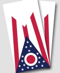 Ohio Flag Cornhole Wrap