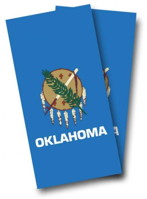 Oklahoma Flag Cornhole Wrap