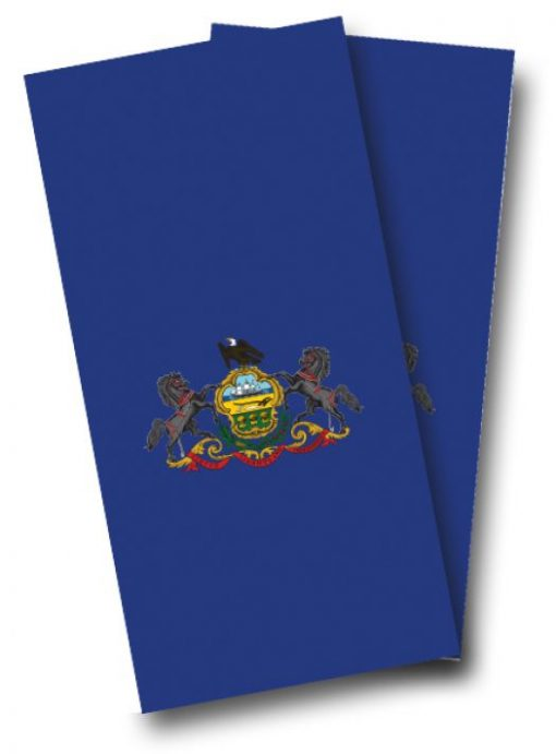 Pennsylvania Flag Cornhole Wrap
