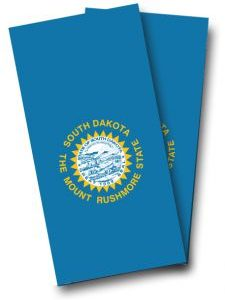 South Dakota Flag Cornhole Wrap