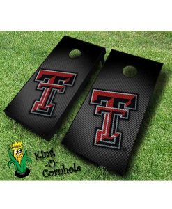 Texas Tech red raiders NCAA cornhole boards Slanted