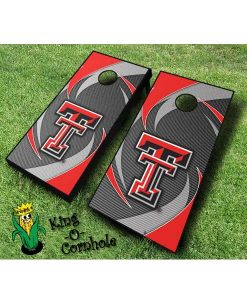 Texas Tech red raiders NCAA cornhole boards Swoosh