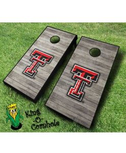 Texas Tech red raiders NCAA cornhole boards distressed