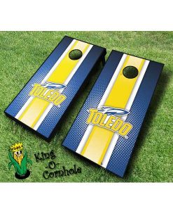 Toledo rockets NCAA cornhole boards Stripe