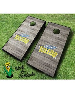 Toledo rockets NCAA cornhole boards Distressed