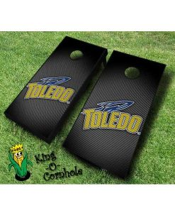 Toledo rockets NCAA cornhole boards Slanted