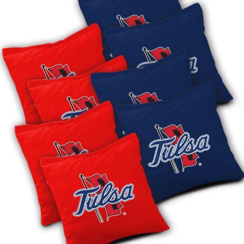 Tulsa Golden Hurricane Cornhole Bags Set of 8