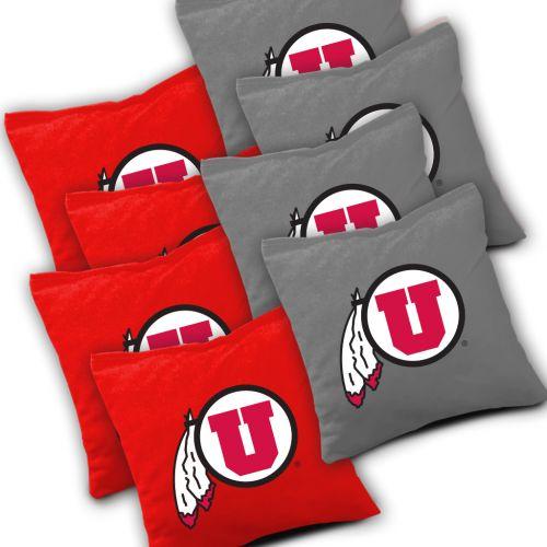 Utah Utes Cornhole Bags Set of 8