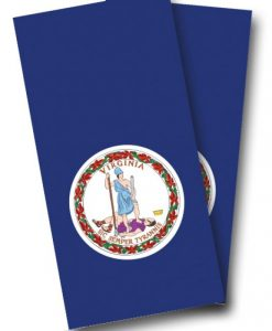 Virginia Flag Cornhole Wrap