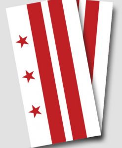 Washington DC Flag Cornhole Wrap
