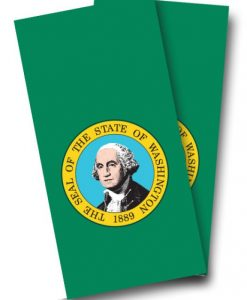 Washington Flag Cornhole Wrap
