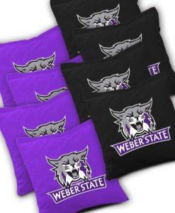 Weber State Wildcats Cornhole Bags Set of 8