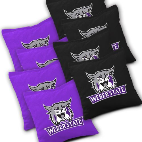 Weber State Wildcats Cornhole Bags Set of 8