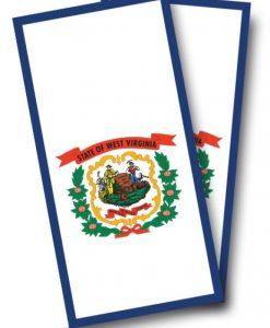 West Virginia Flag Cornhole Wrap
