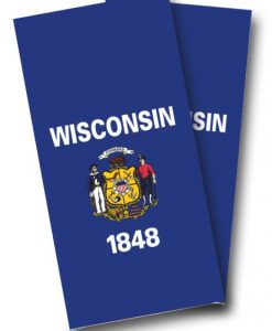 Wisconsin Flag Cornhole Wrap