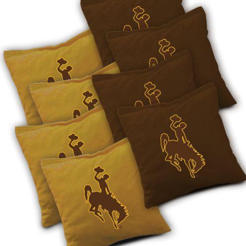 Wyoming Cowboys Cornhole Bags Set of 8