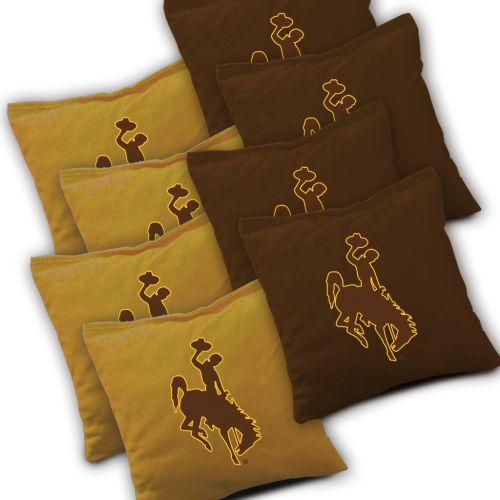 Wyoming Cowboys Cornhole Bags Set of 8