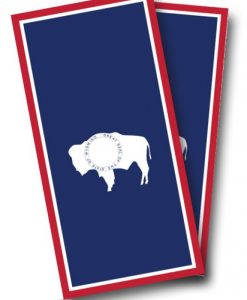 Wyoming Flag Cornhole Wrap