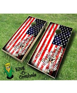 american flag grunge constitution cornhole boards