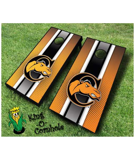 campbell fighting camels NCAA cornhole boards-Stripe