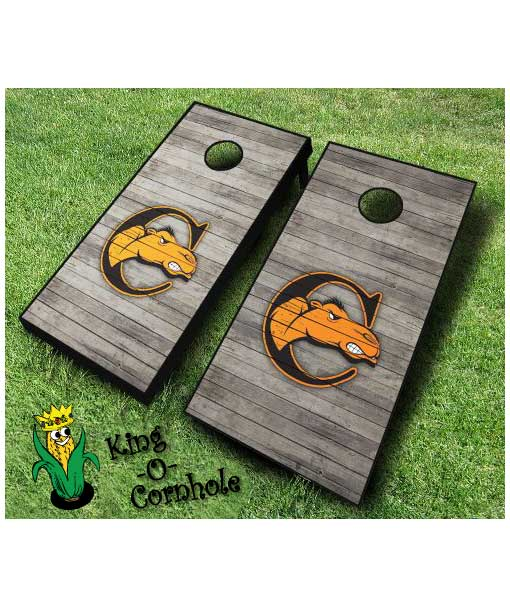 campbell fighting camels NCAA cornhole boards Distressed