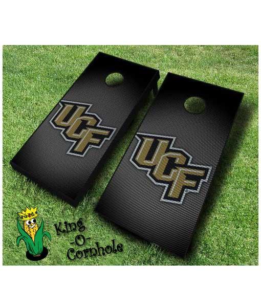 central florida knights NCAA cornhole boards Slanted