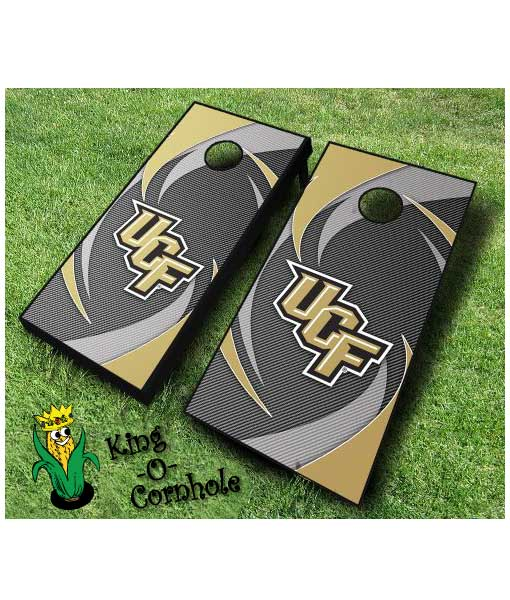 central florida knights NCAA cornhole boards Swoosh
