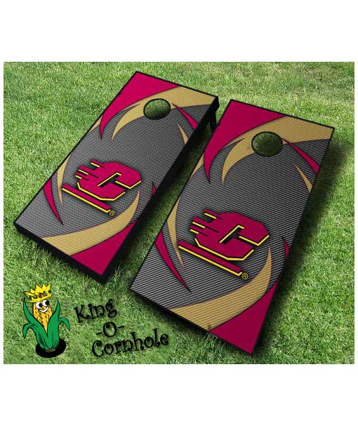 central michigan Chippewas NCAA cornhole boards Swoosh