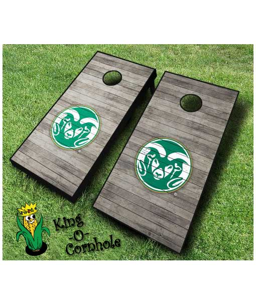 colorado state rams NCAA cornhole boards Distressed