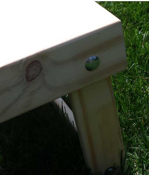 Cornhole Boards mitred corner frame detail