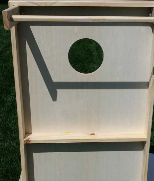 Cornhole Boards center brace detail