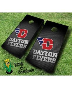 dayton flyers NCAA cornhole boards Slanted