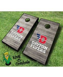 dayton flyers NCAA cornhole boards Distressed