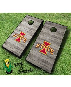 iowa state cyclones NCAA cornhole boards distressed