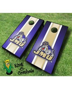 james madison dukes NCAA cornhole boards Stripe