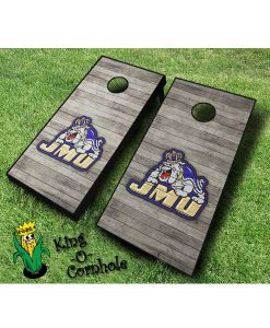 james madison dukes NCAA cornhole boards Distressed