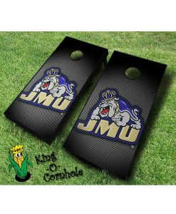 james madison dukes NCAA cornhole boards Slanted