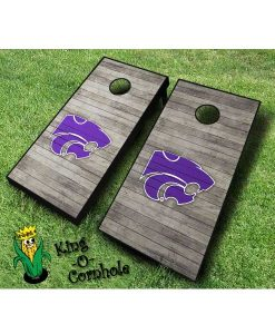 kansas state wildcats NCAA cornhole boards Distressed