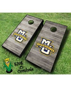 marquette golden eagles NCAA cornhole boards Distressed