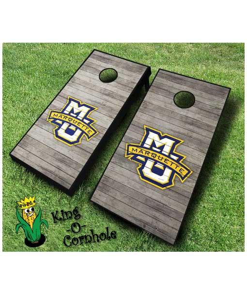 marquette golden eagles NCAA cornhole boards Distressed